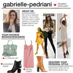Member Spotlight: Gabrielle-Pedriani by polyvore on Polyvore featuring Rachel Comey, Alexander Wang, Acne Studios, 3.1 Phillip Lim, Disney and MemberSpotlight