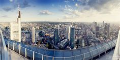 Beautiful view on the South of #Frankfurt, taken from Zeil Galerie.