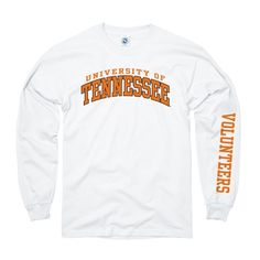 University of Tennessee Volunteers Adult Long Sleeve Basic Tee w/Sleeve Print - New Agenda by Perrin