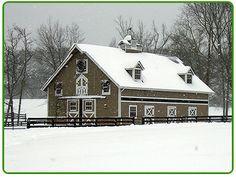 Cozy Barn built by Steve and Cathy Vess of WeBuildBarns-MDBarnmasterVirginia