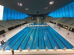Aquatics Center, London, UK  Built for the 2012 Olympics by architect Zaha Hadid.