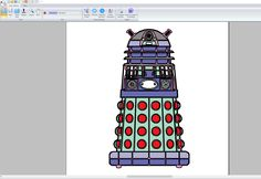 #Dalek embroidery design, nearly finished. The next step is to stitch it out to see how it looks and then to make any changes if needed.