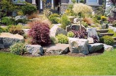 Collection in Large Rock Landscaping Ideas Garden Design Garden Design With Large River Rocks For