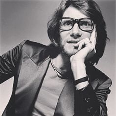 Yves Saint Laurent with a Claude Lalanne necklace. - 70's