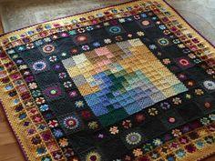 Plaid Crochet, Crochet Quilt, Afghan Crochet Patterns, Crochet Home, Crochet Granny, Knit Crochet, Crochet Blankets, Granny Square Blanket, Granny Squares