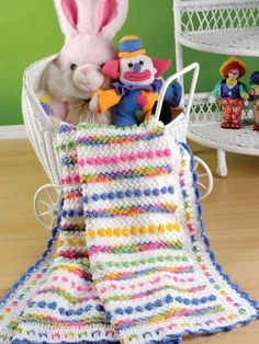 Cotton Candy baby blanket to crochet.