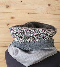 schöne idee für einerli, fleece innen und aussen 2 stoffe plus deko, relativ breit machen dann trägts schön auf