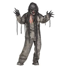 Burning Dead Zombie Costume Boys