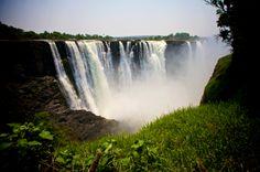 Viktoria Falls, Simbabwe (fineprint seidenmatt auf Forexplatte 45x30 cm)