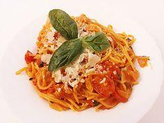 One Pot Pasta Tomate-Mozzarella von Wheat Free Recipes, Other Recipes, Pasta Tomate, Mozzarella Pasta, Good Food, Yummy Food, One Pot Pasta, Cooking Recipes, Healthy Recipes