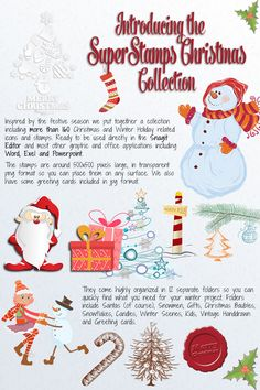 MONTHLY BONUS for December for Callouts Members: SuperStamps Christmas – 160 Christmas related stamps you can use directly in Snagit Winter Holidays, Software, Stamps, Presentation, December, Graphics, Seasons, Canning, Christmas