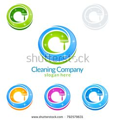 Cleaning Service vector Logo design, Eco Friendly Concept with shiny splash isolated on white Background Cleaning Service Logo, Vector Logo Design, Eco Friendly, Royalty Free Stock Photos, Concept