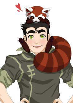 AH Bolin and Pabu adorable!!!!! Legend of Korra