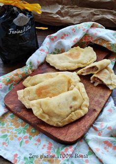Calzoni in padella con farina di ceci (senza glutine )