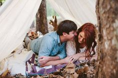 Stacy + Brandon  Photo By Daniel & Steph Photography and Film #bohemian #bohoengagement #engagementpictures
