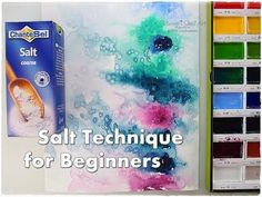 Salt Background Watercolor Technique for Beginners ♡ Maremi's Small Art ♡