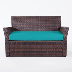 """Create the perfect area for al fresco dining and entertaining, or simply a place to relax with our deep loveseat. It looks great on the patio or deck and comes with a super plush cushion.  supports up to 225-lbs.** dimensions: 49½""""L x 26""""D x 30¼""""H PVC rattan with cushion on steel frame steel/polyethylene/polyester spot clean assembly imported spruce up the patio or deck with outdoor umbrellas and bright cushions or pillows! &a..."""