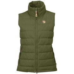 Fjallraven Women's Ovik Lite Vest (1.965 ARS) ❤ liked on Polyvore featuring outerwear, vests, green, zipper vest, zip vest, green vest, down vest and fjallraven vest
