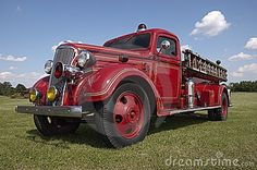 1937 Chevrolet classic firetruck. This vintage old fire engine pumper has seen a lot of action over the years and still runs. It is retired now but still does duty at retro classic car shows and parades...