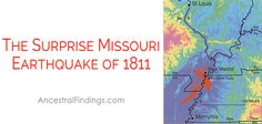 The Missouri area experienced a devastating earthquake in 1811. Here's what effect the earthquake had on the area, and why there was even a large earthquake there in the first place.