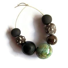 African Clay Beads Handmade Beads Chunky by EarthbutterStudio, $14.00