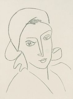 Henri Matisse, Catherinette, 1946, Lithograph on chine appliqué on Arches paper, 14 1/2 x 11 3/4 inches
