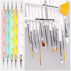 20pcs Worthiness Nail Art Pen Dotting Design Tips Drawing Brushes Suit Desires -- Click image to review more details.