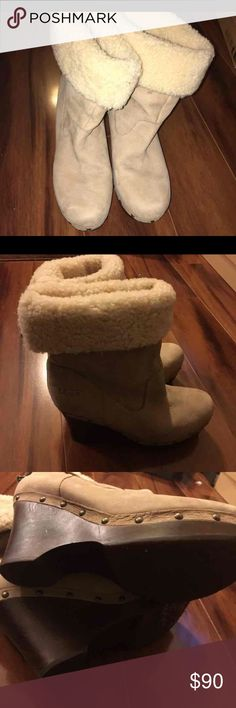 UGG Tan Insulated Boots Size 10 UGG Boots with minor scrapes UGG Shoes Ankle Boots & Booties