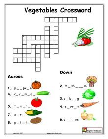 ESL, English vocabulary,Printable worksheets, Vegetables , Food, fruits