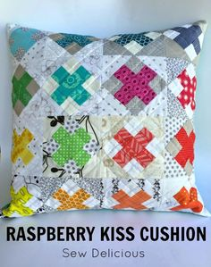 Could this be one of favourite projects EVER? Yes I think so! As you might remember from this post, I found a gorgeous mini quilt on pinterest that used these blocks. After some detective work I discovered the maker and followed her information over to the Raspberry Kiss block tutorial by Wooden Spoon Quilts. I…