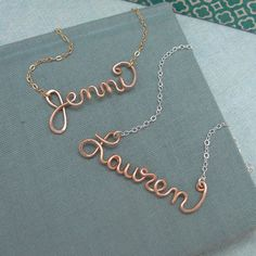 Rose Gold Filled Personalized Name Necklace - this would be the perfect push present!
