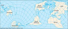 A true perspective of the size of the earth through a Cylindrical equal-area projection oblique case map