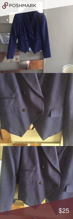 Zara blazer Gently worn. Double breasted royal blue blazer. Zara Jackets & Coats Blazers
