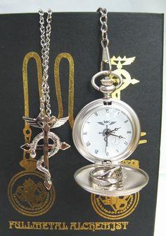 Fullmetal Alchemist Edward Elric Watch Ring Necklace FMWT9239