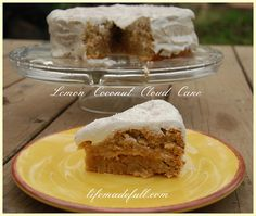 Light and fluffy, this Lemon Coconut Cloud Cake is heavenly!