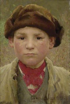 Farmer's Boy. Sir George Clausen (English 1852-1944)