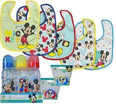 Mickey Mouse Baby Set  Bibs Pacifiers  Bottles >>> Check out this great product.-It is an affiliate link to Amazon.