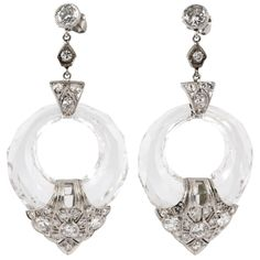 Art Deco earrings | From a unique collection of vintage drop earrings at http://www.1stdibs.com/jewelry/earrings/drop-earrings/