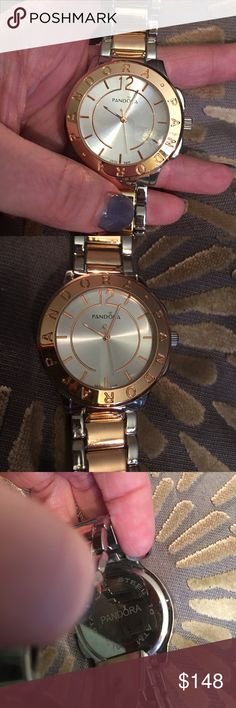 Pandora New watch Rose Gold New Pandora stainless steal and rose gold watch. Adjustable links. Was purchased December 2016, very beautiful watch. Pandora Jewelry Bracelets