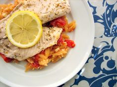 Baking, domesticity, and all things mini: Greek tilapia with feta tomato orzo