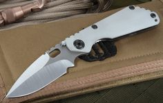 Mick Strider Custom SNG CC  Arctic Grey Folding Knife