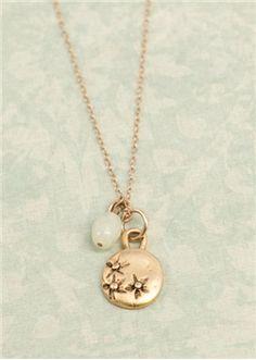 gold wildflower necklace