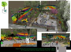 Design Proposal for a DIY Pocket Park mabe by upcycled materials in an urban void at Feron Str., Athens