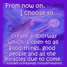 ⭐ GOOD MORNING! Think positive!   To get YOUR OWN FREE affirmation message from the Angels for today CLICK HERE ➡  ⭐ http://www.myangelcardreadings.com/affirmations ⭐   These affirmations will help you have a more positive, optimistic outlook ... and help