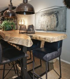 Wood Slab Table, Wood Furniture, Furniture Design, Dining Bench, Dining Room, House Design, Tables, Blog, Home Decor