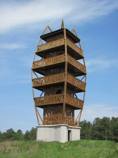 Landscape Architecture, Interior Architecture, Tower Models, Lookout Tower, Building A Container Home, Solar Shades, Tower Design, Farm Stay, Glass Facades