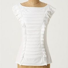 pleated T-shirt refashion