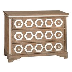Natural Weathered Mirrored 3-Drawer Chest | Kirklands 40L x 18W x 34.3H in. $350