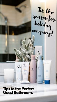 Tis the season for holiday company! Make sure your guest bathroom is stocked and ready to welcome those you love. ❤️ #NuSkin #GuestBathroom www.nuskin.com/content/corpcom/en_US/thesource/skincare/the-perfect-guest-bathroom.html?cq_ck=1544466800350 Contemporary Bathroom Designs, Bathroom Design Small, Skin Care Regimen, Skin Care Tips, Michael In The Bathroom, Bathroom Trends, Bathroom Ideas, New Skin, Maquillaje
