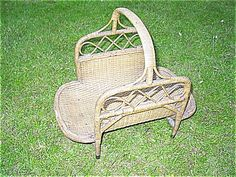 Natural Antique Victorian Wicker Wood Basket Heywood Brothers and from dovetail…